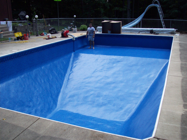 New la porte inground pool liner poolside pools spas for Swimming pool liners
