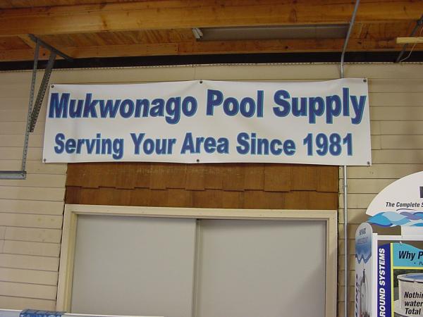 Mukwonago Pool Supply Sign Poolside Pools Spas Llc