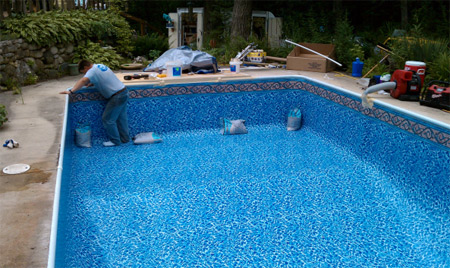 Pewaukee swimming pool and hot tub professionals in for Tub liner installation